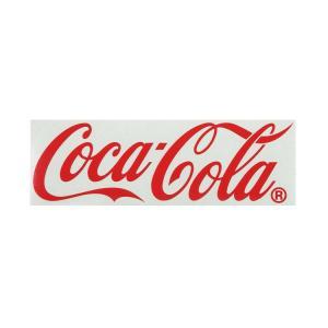 コカ・コーラブランド カッティングステッカー (Mサイズ 24.5cm) レッド COCA-COLA BRAND ロゴステッカー アメリカ雑貨|colour