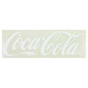 コカ・コーラブランド カッティングステッカー (Lサイズ 38cm) ホワイト COCA-COLA BRAND ロゴステッカー アメリカ雑貨|colour