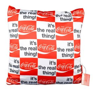 コカ・コーラ クッション パターン It's The REAL Thing! 36×36cm COCA-COLA インテリア アメリカ雑貨|colour