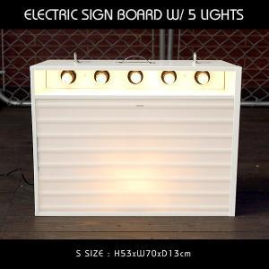 エレクトリックサインボード w/ライト Sサイズ(ホワイト)高さ53×幅70cm 【メニューボード、店舗看板、カフェインテリア、アメリカン雑貨】 colour