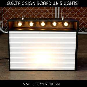 エレクトリックサインボード w/ライト Sサイズ(ブラック)高さ53×幅70cm 【メニューボード、店舗看板、カフェインテリア、アメリカン雑貨】 colour