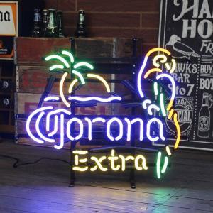 アメリカンネオンサイン / CORONA EXTRA PARROT (コロナエクストラ・オウム) /ネオン管/ドリンク・フード柄/|colour