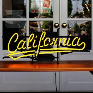 照明 ネオンサイン / California (イエローネオン) 縦27×横65cm カリフォルニア ガレージ インテリア ネオン管 電飾 店舗装飾 アメリカ雑貨 アメリカン雑貨 colour
