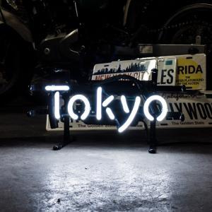 アメリカンネオンサイン TOKYO トーキョー 文字デザイン 縦17×横32cm バー ガレージ インテリア ネオン管 電飾 店舗装飾 アメリカ雑貨|colour