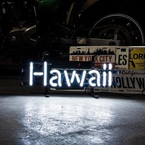 アメリカンネオンサイン HAWAII ハワイ 文字デザイン 縦17×横39cm ハワイアン インテリア ネオン管 ガレージ 店舗装飾 アメリカ雑貨|colour