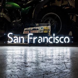 アメリカンネオンサイン San Fransisco サンフランシスコ 文字デザイン 縦17×横70cm バー ガレージ 西海岸 インテリア ネオン管 店舗装飾 アメリカ雑貨|colour