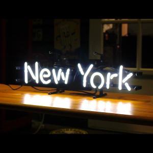 アメリカンネオンサイン New York ニューヨーク 文字デザイン 縦17×横54cm バー ガレージ インテリア ネオン管 電飾 店舗装飾 アメリカ雑貨 colour 03