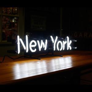 アメリカンネオンサイン New York ニューヨーク 文字デザイン 縦17×横54cm バー ガレージ インテリア ネオン管 電飾 店舗装飾 アメリカ雑貨 colour 04