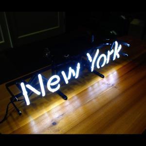 アメリカンネオンサイン New York ニューヨーク 文字デザイン 縦17×横54cm バー ガレージ インテリア ネオン管 電飾 店舗装飾 アメリカ雑貨 colour 05