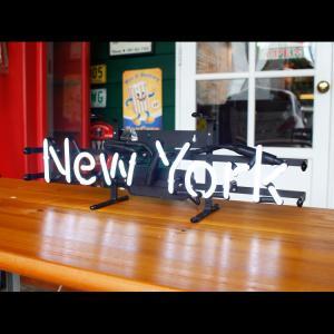 アメリカンネオンサイン New York ニューヨーク 文字デザイン 縦17×横54cm バー ガレージ インテリア ネオン管 電飾 店舗装飾 アメリカ雑貨 colour 06