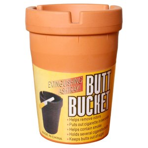 灰皿 BUTT BUCKET バットバケツ ブラウン 高さ11×直径8cm アシュトレー 喫煙具 卓上 アメリカン雑貨|colour