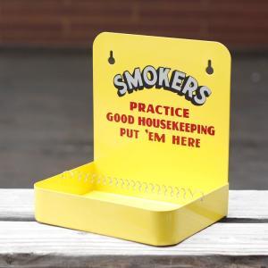 灰皿 スモーカーズアッシュトレイ (イエロー) SMOKERS ASHTRAY 小物収納 トレイ アメリカ雑貨 アメリカン雑貨|colour