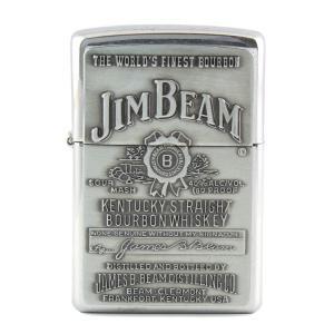 ZIPPO ジッポーライター JIM BEAM シルバー エンボス ジンビーム オイルライター 喫煙具 コレクション アメリカ雑貨 アメリカン雑貨|colour
