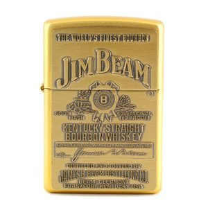 ZIPPO ジッポーライター JIM BEAM ゴールド エンボス ジンビーム オイルライター 喫煙具 コレクション アメリカ雑貨 アメリカン雑貨|colour