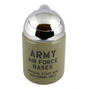 灰皿 ドーム灰皿 ARMY AIR FORCE BASES 本体色:カーキ 高さ16.5×直径10c...