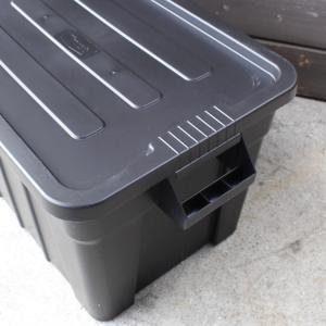 収納ボックス コンテナ THOR ソー ラージトートコンテナー フタ付き 75L ブラック スクエア TRUST アメリカ雑貨 アメリカン雑貨|colour|04