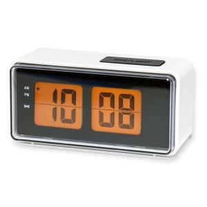 目覚まし時計 おしゃれ キッカーランド デジタル アラームクロック KAC25WH ホワイト KIKKERLAND レトロ 置き時計 インテリア アメリカ雑貨 アメリカン雑貨 colour