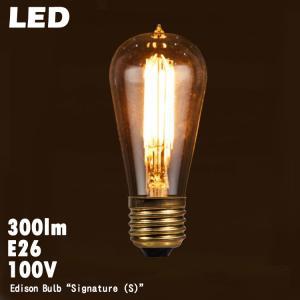 電球 レトロ おしゃれ LED エジソン バルブ シグネイチャー (S) E26 300lm 白熱球30W相当 調光器対応 エジソン電球 インテリア照明 3354SS|colour