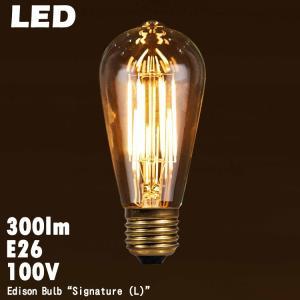 電球 レトロ おしゃれ LED エジソン バルブ シグネイチャー (L) E26 300lm 白熱球30W相当 調光器対応 エジソン電球 インテリア照明 3354SL|colour