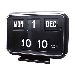 トゥエンコ デジタル カレンダー クロック #QD-35 ブラックTWEMCO おしゃれ アナログ アメリカ雑貨 アメリカン雑貨 colour