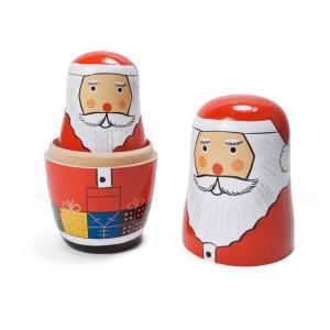 置物 マトリョーシカ サンタリョーシカ クリスマス オブジェ オーナメント インテリア雑貨|colour|02