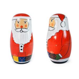 置物 マトリョーシカ サンタリョーシカ クリスマス オブジェ オーナメント インテリア雑貨|colour|04