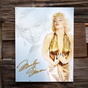 メタルサイン 「マリリンモンロー Gold Dress」 #1656 /ブリキ看板/ムービー/|colour