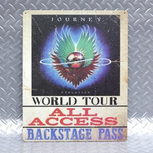 メタルサイン ジャーニー Journey Backstage Pass #98589 ロック柄 アメ...