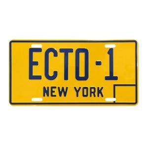 ムービーナンバープレート ECTO-1 ゴーストバスターズのナンバープレート ライセンスプレート CMプレート 看板 アメリカ雑貨 アメリカン雑貨 colour