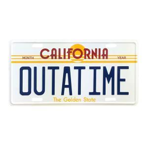 ムービーナンバープレート OUTATIME バックトゥザフューチャーのナンバープレート ライセンスプレート CMプレート 看板 アメリカ雑貨 アメリカン雑貨 colour
