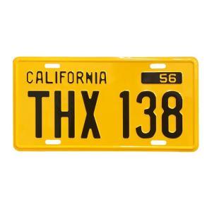 ムービーナンバープレート THX138 アメリカングラフィティの黄色いデュースのナンバープレートCMプレート 看板 アメリカ雑貨 アメリカン雑貨の商品画像|ナビ