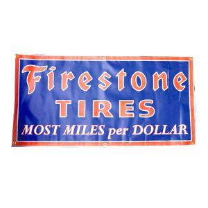 ガレージバナー Firestone ファイヤーストーン 縦60×横120cm セールスバナー タペストリー 壁面ディスプレー アメリカ雑貨 アメリカン雑貨|colour