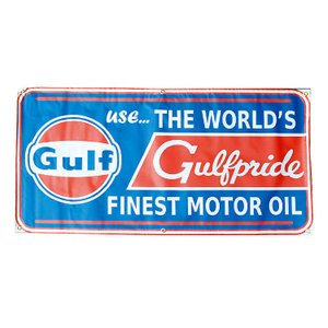 ガレージバナー Gulf Gulfpride ガルフプライド 縦60×横120cm セールスバナー タペストリー 壁面ディスプレー アメリカ雑貨 アメリカン雑貨|colour