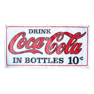 ガレージバナー Coca-Cola 10¢ コカコーラ 10セント 縦60×横120cm セールスバナー タペストリー 壁面ディスプレー アメリカ雑貨 アメリカン雑貨|colour