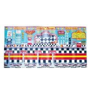 ガレージバナー 50's DINER ダイナー 縦60×横120cm セールスバナー タペストリー 壁面ディスプレー アメリカ雑貨 アメリカン雑貨|colour