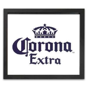 鏡 パブサインミラー コロナエクストラ ブラック 縦33×横38cm CORONA EXTRA #13708 ガレージミラー パブミラー スクリーンプリント アメリカ雑貨|colour
