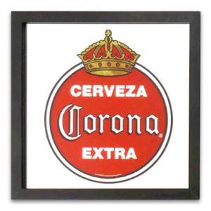 鏡 パブサインミラー コロナエクストラ ヴィンテージロゴ 縦33×横33cm CORONA EXTRA #13709 ガレージミラー パブミラー スクリーンプリント アメリカ雑貨|colour