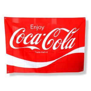 コカ・コーラブランド ファブリックサイン W130×H90cm PJ-FS01 COCA-COLA 旗 フラッグ タペストリー アメリカ雑貨|colour