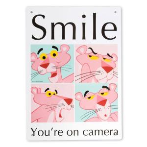 看板 プラスチック メッセージサインボード ピンクパンサー PP SMILE 縦33.5×横25.5cm アメリカ雑貨|colour