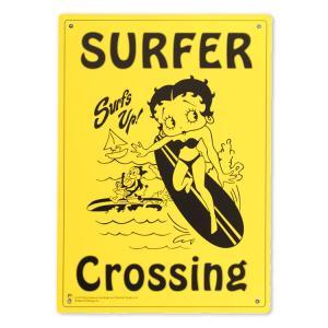 看板 プラスチック メッセージサインボード ベティーブープ BT SURFING 縦33.5×横25.5cm アメリカ雑貨|colour
