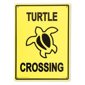 看板 プラスチック メッセージサインボード TURTLE CROSSING CA-71 縦33.5×横25.5cm アメリカ雑貨|colour