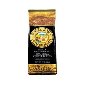 ROYAL KONA COFFEE ロイヤルコナコーヒー バニラマカダミアナッツ 198g
