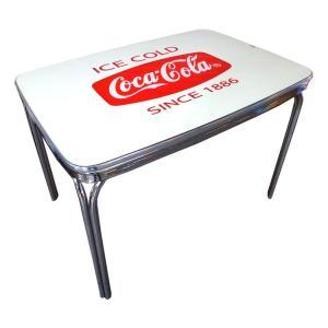 COCA-COLA BRAND コカコーラブランド ダイナーテーブル 「Coke Dinner Table with Glass Top」 PJ-600DL インテリア、家具、コーラ雑貨、アメリカン雑貨|colour