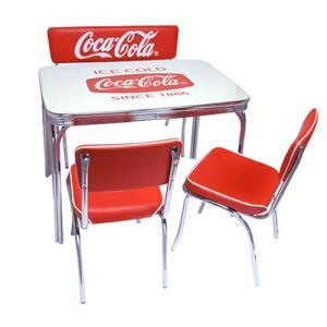 COCA-COLA BRAND コカコーラブランド ダイナーテーブル、チェア、ベンチシートの4点セッ...