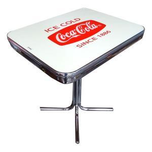 COCA-COLA BRAND コカコーラブランド ダイナーテーブルS 「Coke S-Table with Glass Top」 PJ-500DS インテリア、家具、コーラ雑貨、アメリカン雑貨|colour