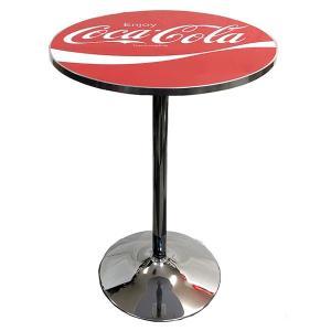 カフェテーブル 丸型 コカコーラ ラウンドテーブル レッド PJ-RT01 COCA-COLA 高さ91cm ハイテーブル 家具 インテリア アメリカ雑貨 アメリカン雑貨|colour