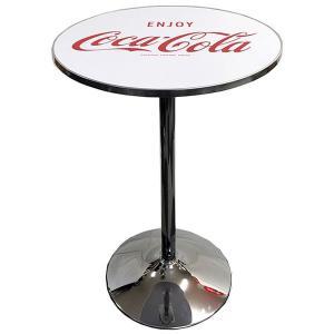 カフェテーブル 丸型 コカコーラ ラウンドテーブル ホワイト PJ-RT02 COCA-COLA 高さ91cm ハイテーブル 家具 インテリア アメリカ雑貨 アメリカン雑貨|colour