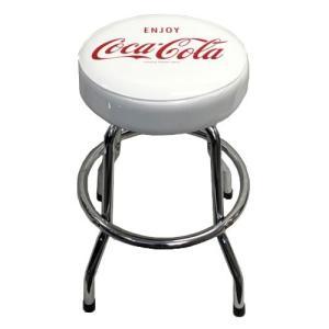 イス カウンターチェア コカコーラ スツールチェア ホワイト PJ-ST02 COCA-COLA 家具 インテリア アメリカ雑貨 アメリカン雑貨|colour