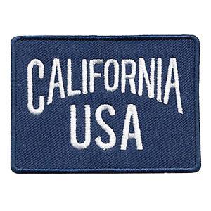ワッペン アメリカン カリフォルニアUSA 50×70mm CALIFORNIA-USA エンブレム 刺繍 アイロン圧着 手芸 アメリカ雑貨 colour