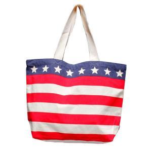 トートバッグ 星条旗柄 男女兼用 USA コットン キャンバス バッグ アメリカ雑貨 アメリカン雑貨|colour